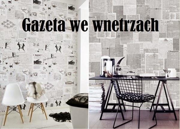 Nie wyrzucaj gazety. Może Ci się przydać. Gazeta na ścianie i inne dekoracje.