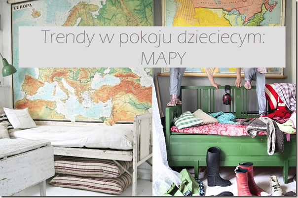 Trendy w pokoju dziecięcym: mapy