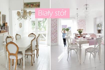 Biały stół w odsłonie skandynawskiej, retro i nowoczesnej