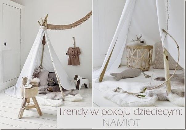 Trendy w pokoju dziecięcym: namiot/teepee
