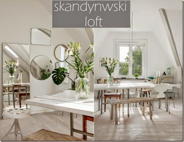 Skandynawski loft skąpany w bieli