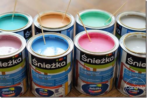 Metamorfoza domku dla lalek + malowanie mebelków