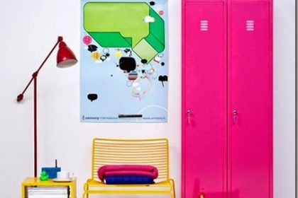 Trendy w pokoju dziecięcym: metalowe szafki/lockers