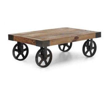 TRENDY: Stolik kawowy z kołami, czyli cart table