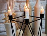 Skandynawskie dekoracje: świecznik sześcian + KONKURS