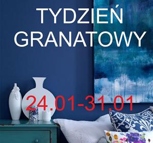 TYDZIEŃ GRANATOWY: kolor granatowy w łazience