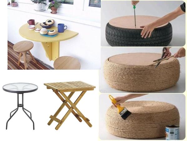 AKCJA BALKON: 10 pomysłów ba balkonowy stolik