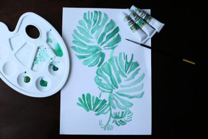 DIY: Mój filodendron