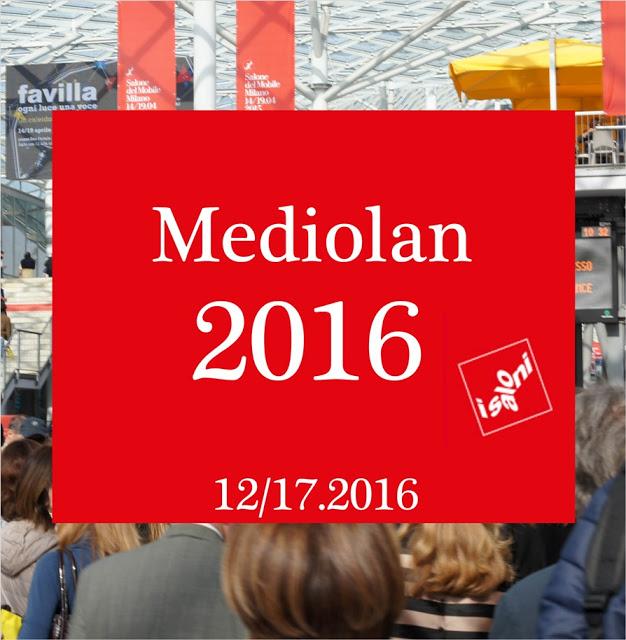 MEDIOLAN 2016 dzień 1 - wielkie sławy designu