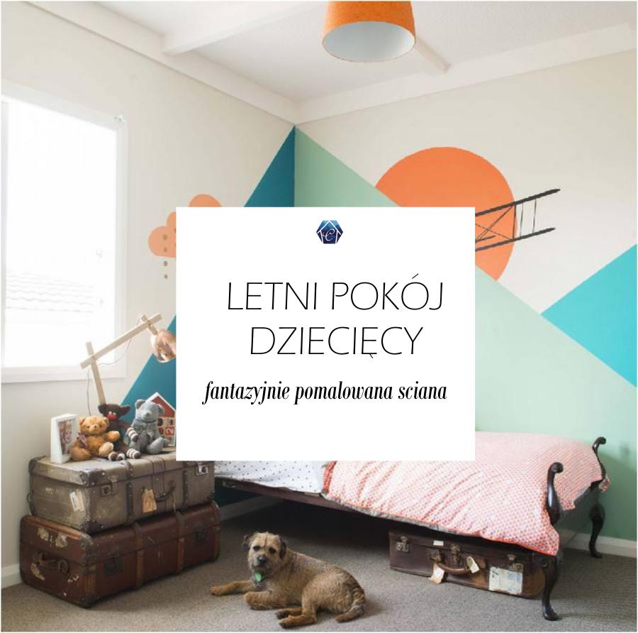 PROJEKT LETNI POKÓJ DZIECIĘCY #2: fantazyjnie pomalowana ściana