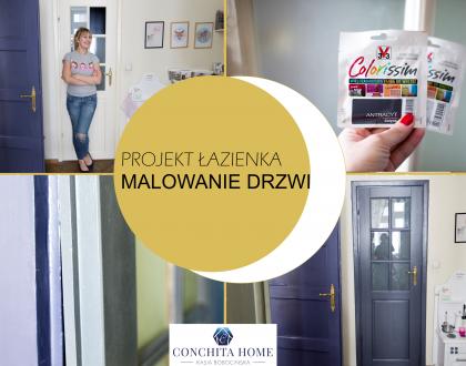 PROJEKT ŁAZIENKA #2: malowanie drzwi