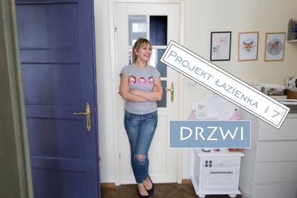 PROJEKT ŁAZIENKA: malowanie drzwi