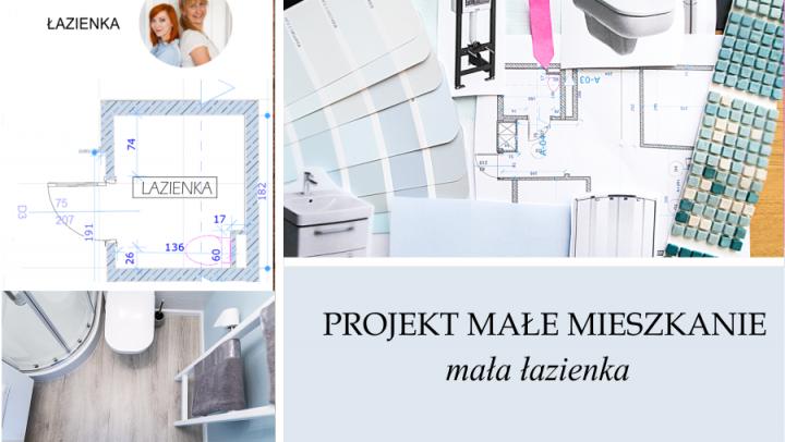 PROJEKT MIESZKANIE #3: Mała łazienka