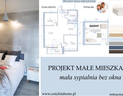 PROJEKT MIESZKANIE #2: Mała sypialnia bez okna
