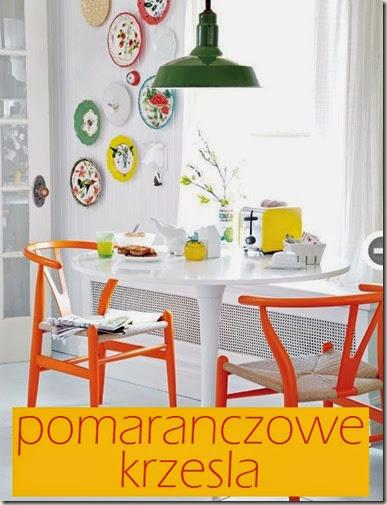 Krzesło w roli głównej: pomarańczowe krzesła