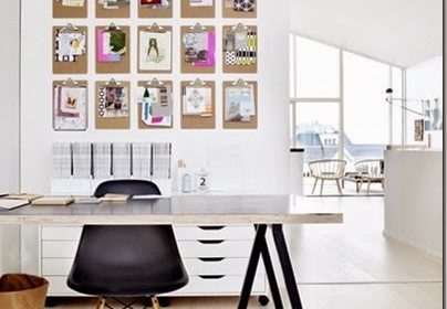 Inspirujące tablice, czyli jak ozdobić przestrzeń nad biurkiem?
