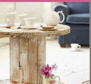 Trendy: stolik ze szpulki/Wooden reel table