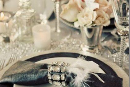 Dekoracja stołu na imprezę Sylwestrową