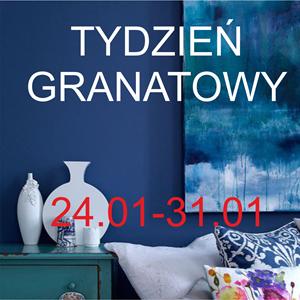 TYDZIEŃ GRANATOWY: kolor granatowy w sypialni
