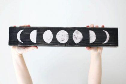 Fazy księżyca - dekoracja we wnętrzu