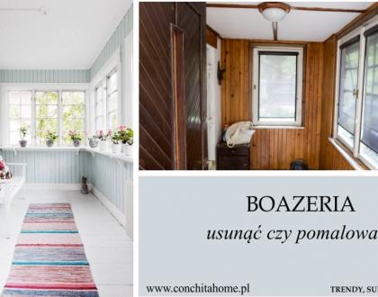 Boazeria w przedpokoju - usunąć czy pomalować?