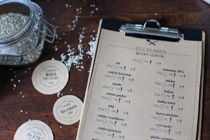 DIY etykiety na przyprawy do pobrania + malowanie nakrętek + przelicznik kuchenny