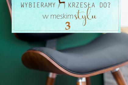 Jakie krzesło wybrać do?...cz.3