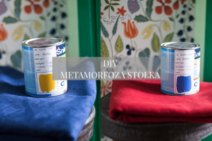 DIY - szybka metamorfoza stołka