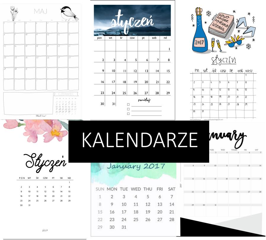 35 kalendarzy na 2017 do pobrania, w trzech rożnych stylach