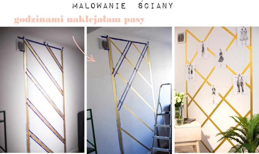 Jak namalować złoty motyw na ścianie?