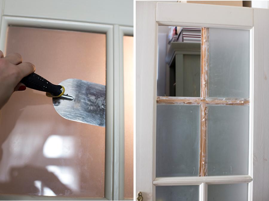 Modernistyczne PROJEKT ŁAZIENKA #2: malowanie drzwi - conchitahome.pl QR83