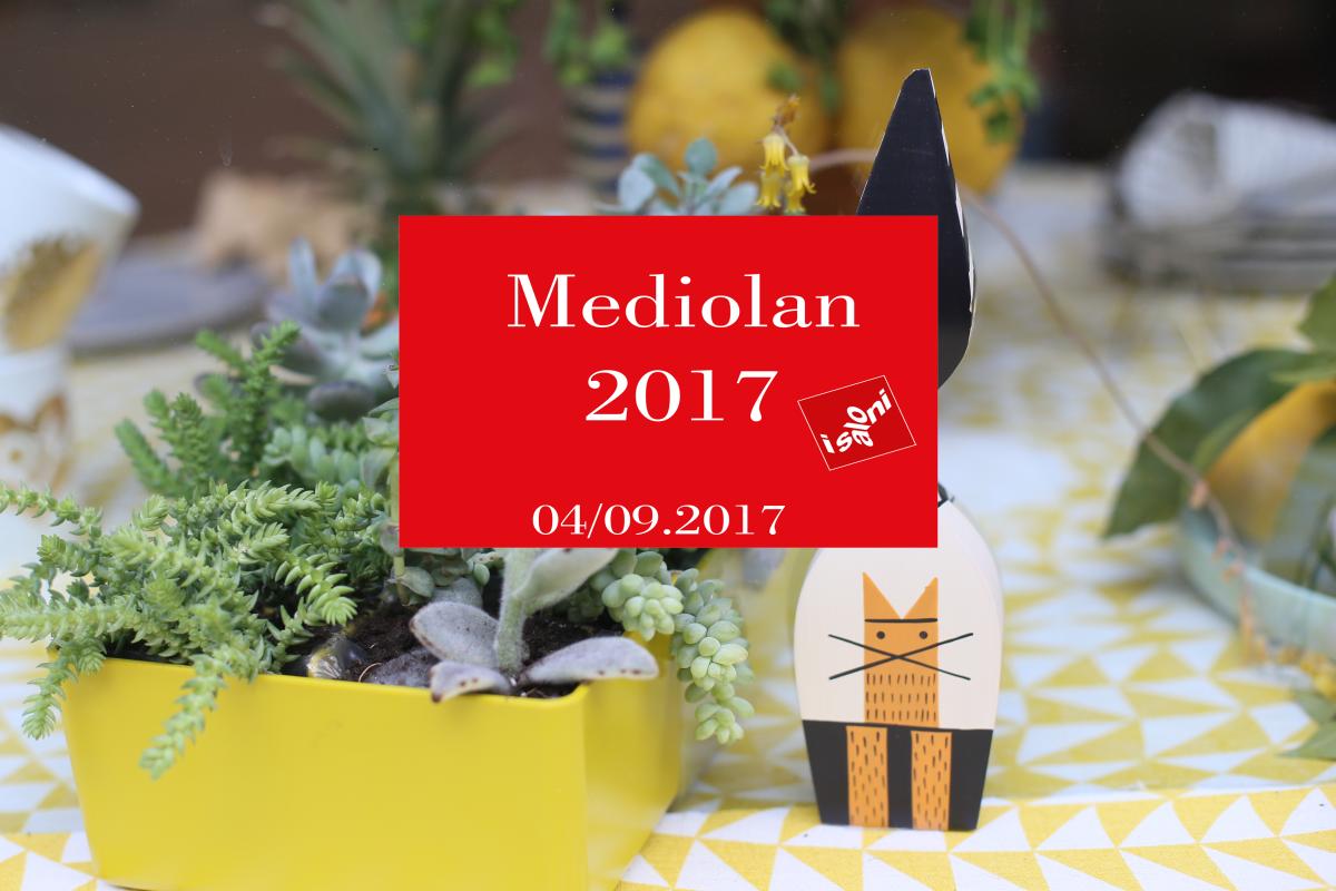 MEDIOLAN 2017- targi designu w Mediolanie - dzień 1