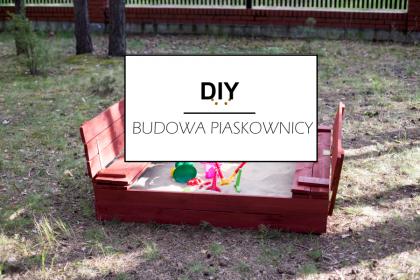 DIY: Piaskownica z ławeczkami