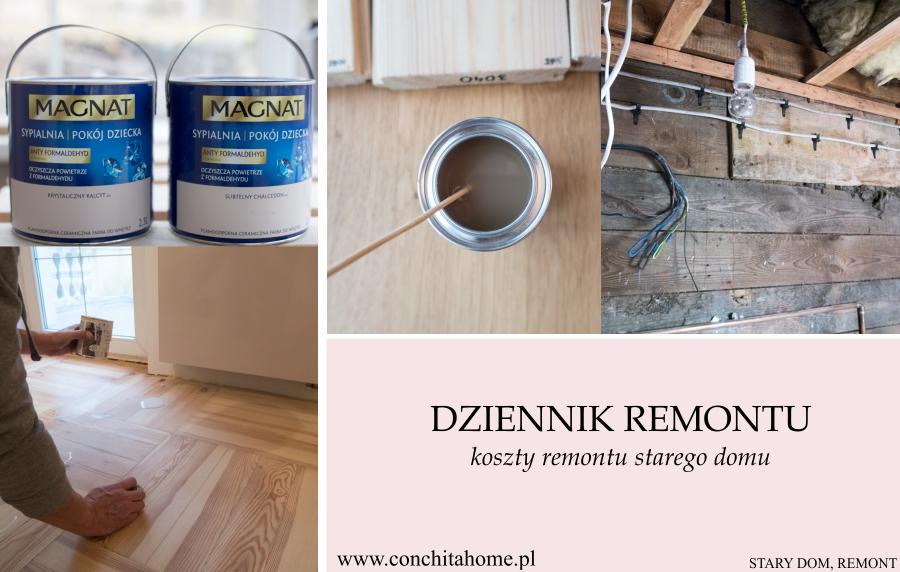 STARY DOM: DZIENNIK REMONTU CZ.2 - koszty remontu starego domu