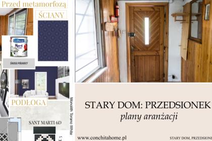 STARY DOM: PLANY METAMORFOZY - PRZEDSIONEK