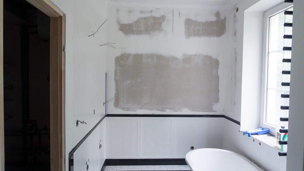 Stary Dom Pomysł Na Wnętrze łazienki 3 Czarna ściana
