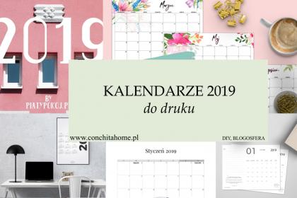 43 kalendarze do pobrania na 2019 za darmo