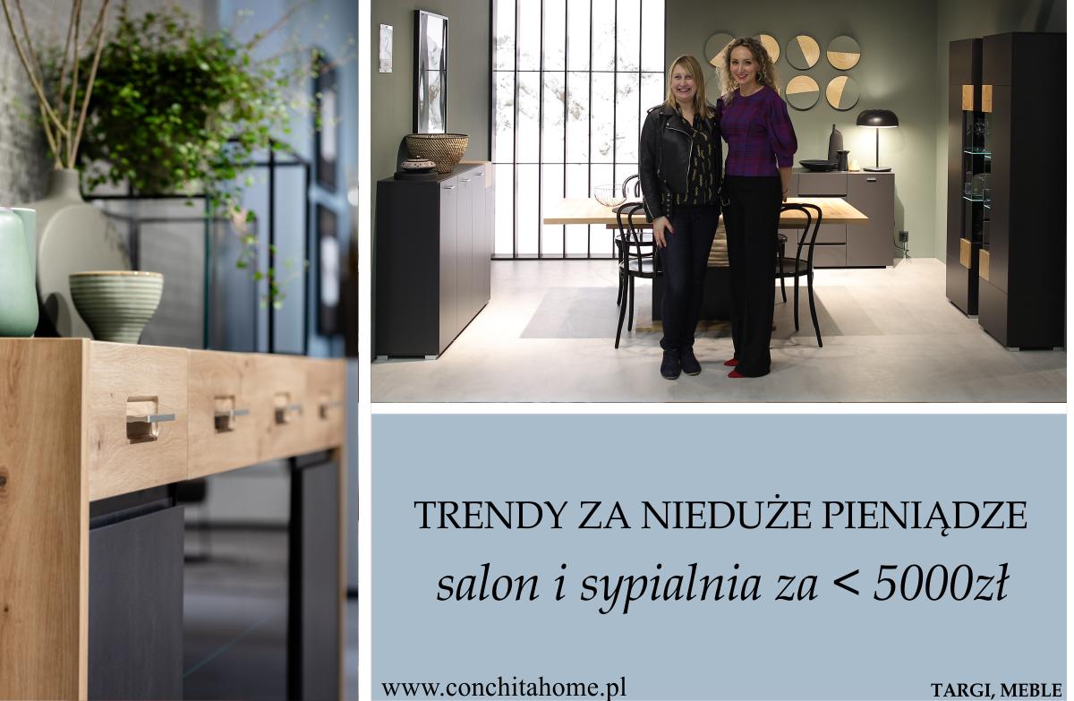 Pomysł na salon i sypialnię za mniej niż 5000 złotych – przegląd trendów