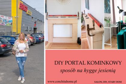 Portal kominkowy DIY -sposób na hygge  jesienią