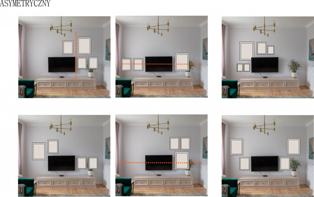 Jak powiesić galerię wokół TV?